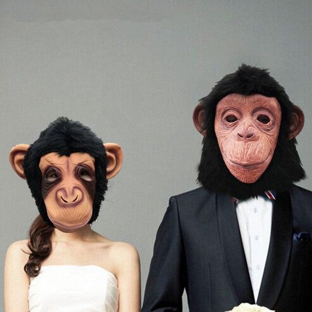 Grand Theft Auto Fancy Dress Monkey mask Chimp Masks Hood latex halloween horror carnival cos masquerade rubber animal GTA