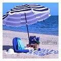 Color beach umbrella sunbathing umbrella awning sun umbrella 2 m 180g polyester waterproof fabric UV UPF50 +