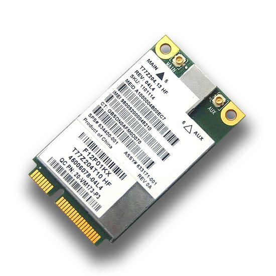Original sierra mc8355 gobi3000 hs2430 mini pci-e 3g modems hspa wwan wlan sem fio cartão de gps para hp sps: 634400-001