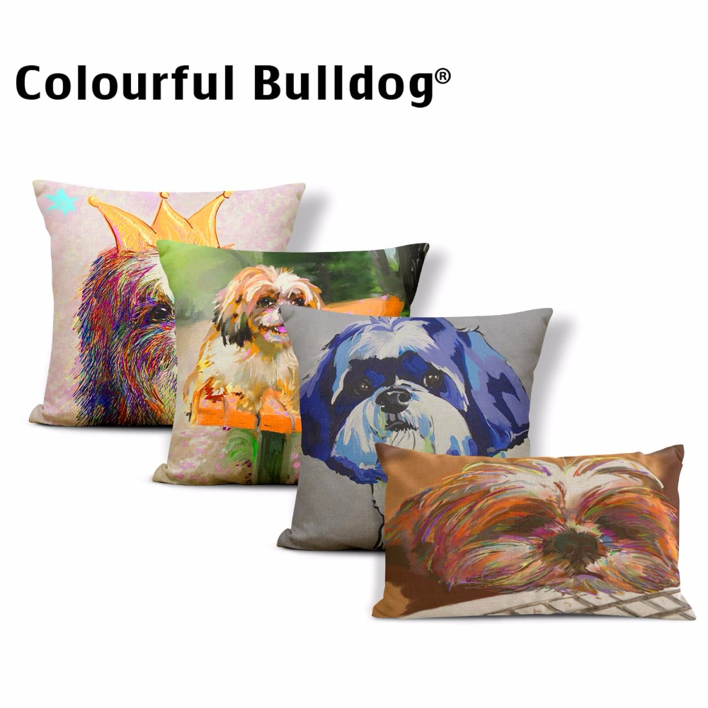 Collection Here 2018 Hazybeauty New Square 18 French Bulldog Printed Decorative Sofa Throw Cushion Pillows Pets Dogs Outdoor Living Room Decor Home & Garden Table & Sofa Linens
