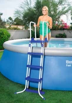 """Europe-Style 58331 Bestway 1.22m Safety Pool Ladder 48"""" Specially Designed Ladder for AGP Height less than 122cm Pool Stairs"""