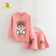DancingBear Girl bear Suit costume Child Long Sleeve Spring And Autumn Dress Fashion Children