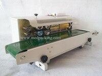 FR900 Plastic Film Sealing Machine+Horizontal Sealing+Date Printing+Seal Belt