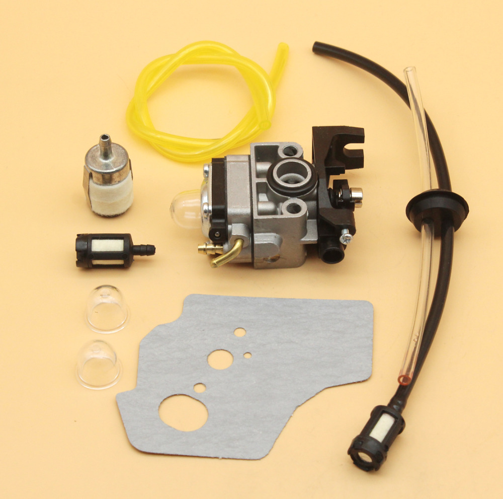 Carburetor Gasket Fuel Line Primer Bulb Kit For Honda GX35 HHT35 HHT35S 4 Stroke Engine Trimmer Lawn Mower Generator Water Pump 3set brush cutter carburetor gasket kit and primer bulb needle 40 5 44f 5 34f 36f 139f gx35 grass trimmer carburetor repair kit