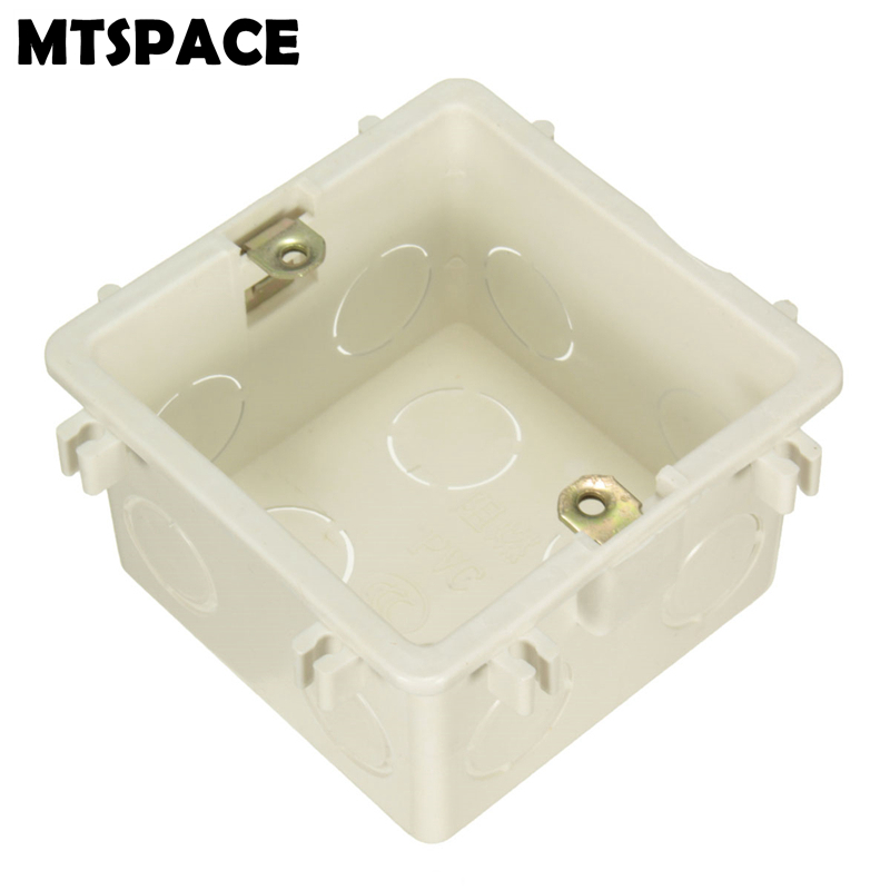 MTSPACE Durable 86/118 Cassette Universal White Wall Mounting Box for Wall Switch and Plastic Enclosure Socket Back Box Outlet 86x86 pvc junction box wall mount cassette for switch socket base