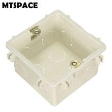 MTSPACE прочный 86/118 кассета Универсальный Белый распределительная коробка для монтажа в стену для настенный выключатель и пластик Корпус розетка задняя коробка выход