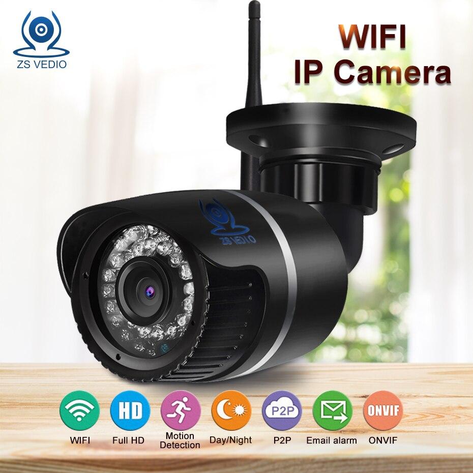 ZSVEDIO Surveillance Cameras WiFi IP Camera Alarm System CCTV Cameras IP Camera Wi Fi Waterproof NVR