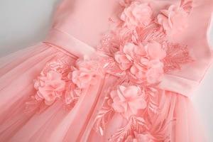 Image 3 - Cielarko Pink White Flower Girl Wedding Dress Kids Formal Party Ball Gown Frock For 3 10 Year Children Birthday Princess Dresses