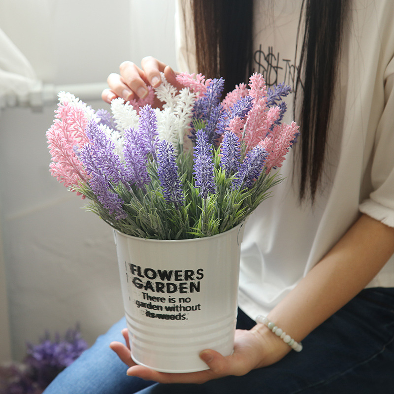 Artificial flowers Lavender Home decor flower Wedding ...