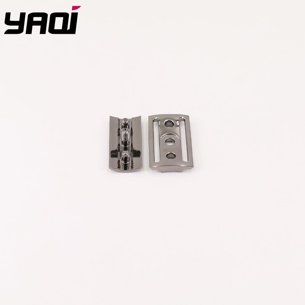 Yaqi Gunmetal Color Scalloped Bar Double Edge Safety Razor Head