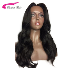 Carina Hair Peruvian Remy Human Hair 150% Density Silk Base Wigs Body Wave Natural Color Wavy Full Lace Wigs