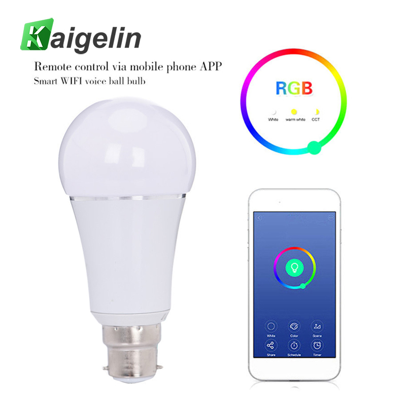 7W Wireless WiFi Smart LED Light Bulb E27 B22 RGB Lamp Dimmable Support Alexa Google Home Voice Control RGBW LED Lamp велосипед cube agree c 62 race disc 2016