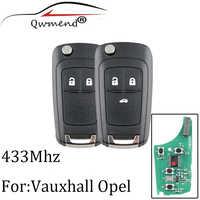 2 Bottoni 433Mhz chiave A Distanza Per Opel Vauxhall Astra J Corsa E Insignia Zafira C 2009-2015 Transponder chip ID46 chiave Originale