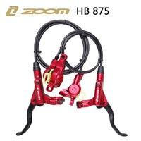 ZOOM HB 875 2018 new mode Bike Hydraulic Brake Kit 800/1400 mm MTB Bicycle Oil pressure Disc Brake Set Front and Rear Bike Parts