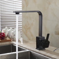 European Antique Faucet Retro Dark Kitchen Faucet On The Stage Of The Basin Of Hot And