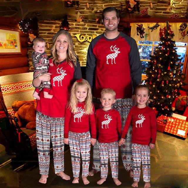 326ba946b4 PUDCOCO Newest Hot 2018 Family Matching Xmas Adult Women Kids Baby Boy Girl  Sleepwear Nightwear Pajamas Casual T Shirt Pants