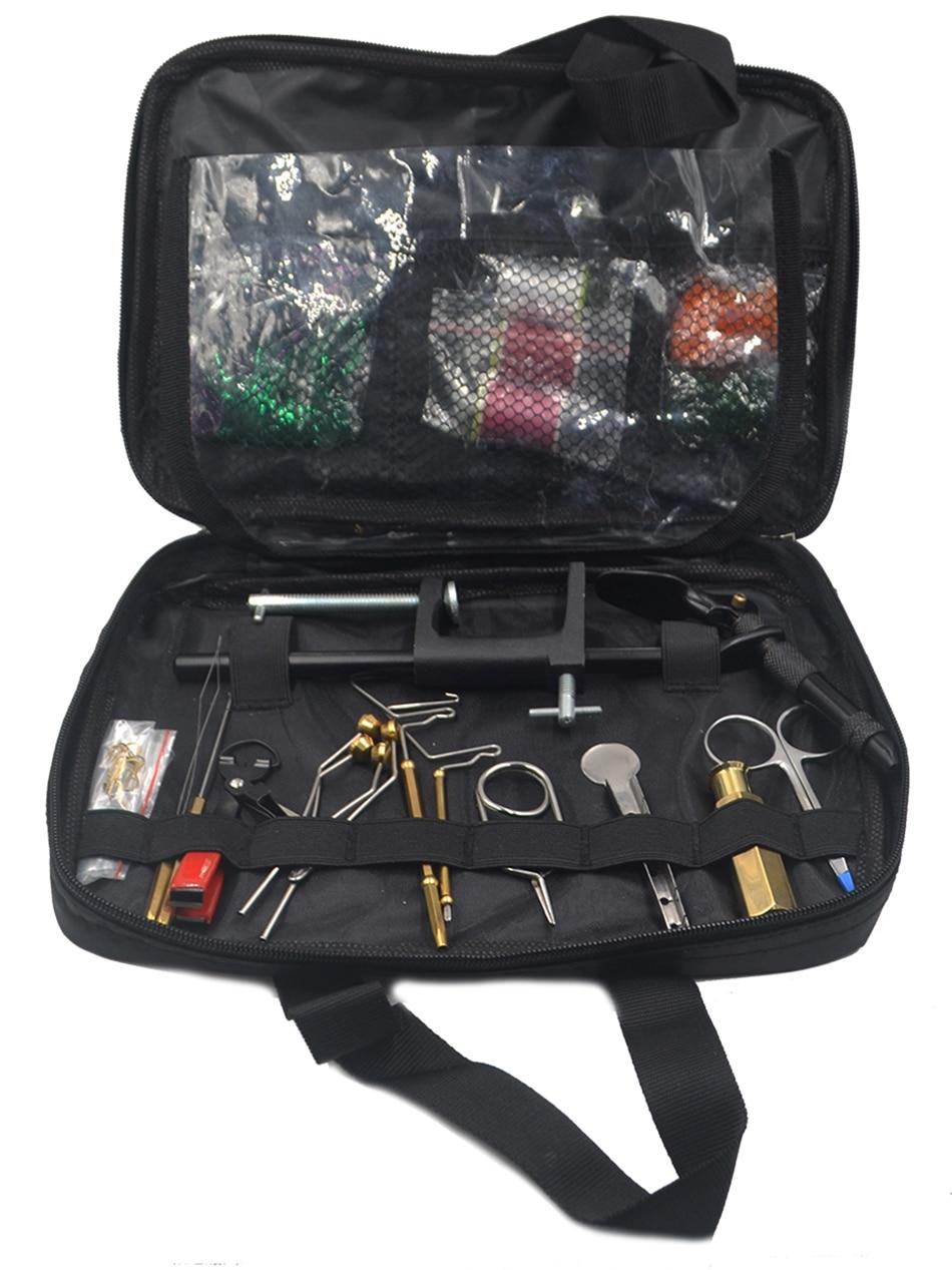 Mnft deluxe fly amarrando ferramentas kit no