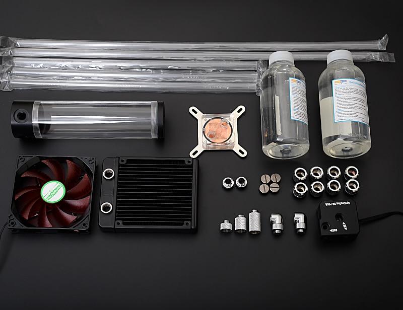 SysCooling 2016 nuevo kit de refrigeración por agua de tubo duro para computadora que irradia un tubo duro de acrílico transparente