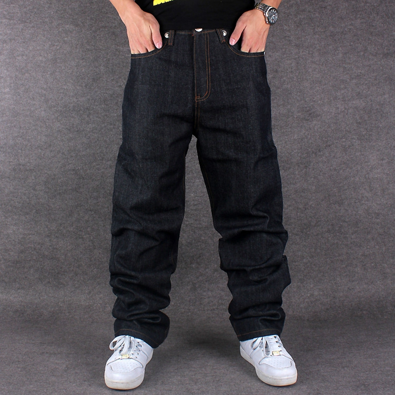 Graffiti letters Men Baggy Jeans Mens Hip Hop Jeans Long