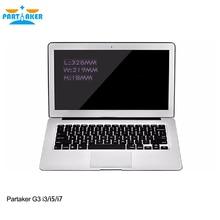 Partaker G3 Intel Dual Core 5th Gen Laptops PC I5 5200U with 8G RAM 256G SSD(China (Mainland))