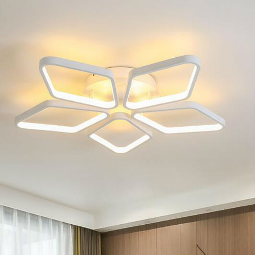 Special Diamond shape acrylic LED Ceiling lamp lustre For Living Study Room  Aluminum Modern Led Ceiling Chandelier Lamp Fixture noosion modern led ceiling lamp for bedroom room black and white color with crystal plafon techo iluminacion lustre de plafond