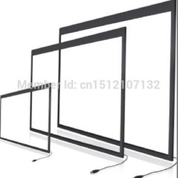 Infrared 55 inch IR touch panel, 2 points touch screen overlay, USB interface with plug and play