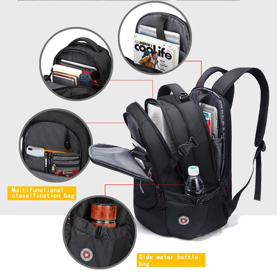 Швейцарский водонепроницаемый нейлоновый рюкзак унисекс мужской ноутбук телефон рюкзак с зарядным устройством повседневные школьные сумки путешествия mochila для 15 до 17 дюймов