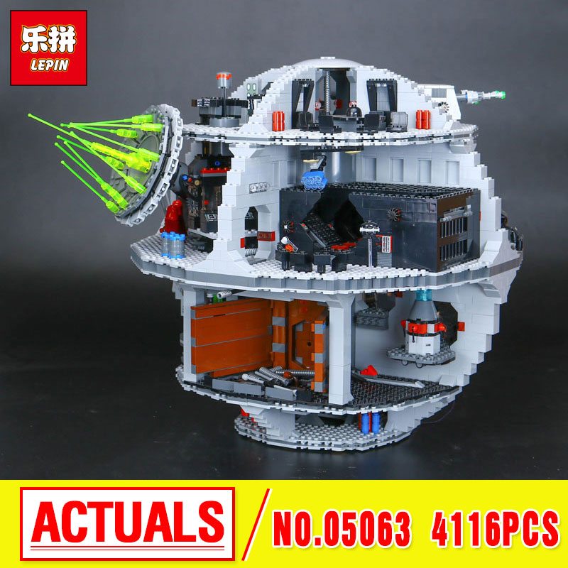 2017 New 4116Pcs Lepin 05063 Genuine Star  UCS Death Rogue Star   One Set Building Blocks Bricks Educational Toys 79159 War wars gonlei figures rogue one k 2so death trooper sergeant jyn erso figure toys building blocks christmas gifts lepin