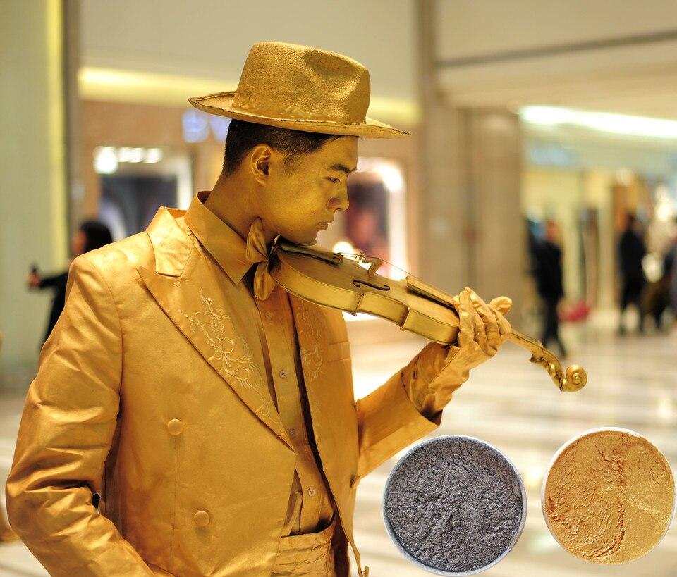 Film Effets Speciaux Poudre De Maquillage Corps Argente Peinture Dix Huit Bronze Metal Maquillage Special Aliexpress