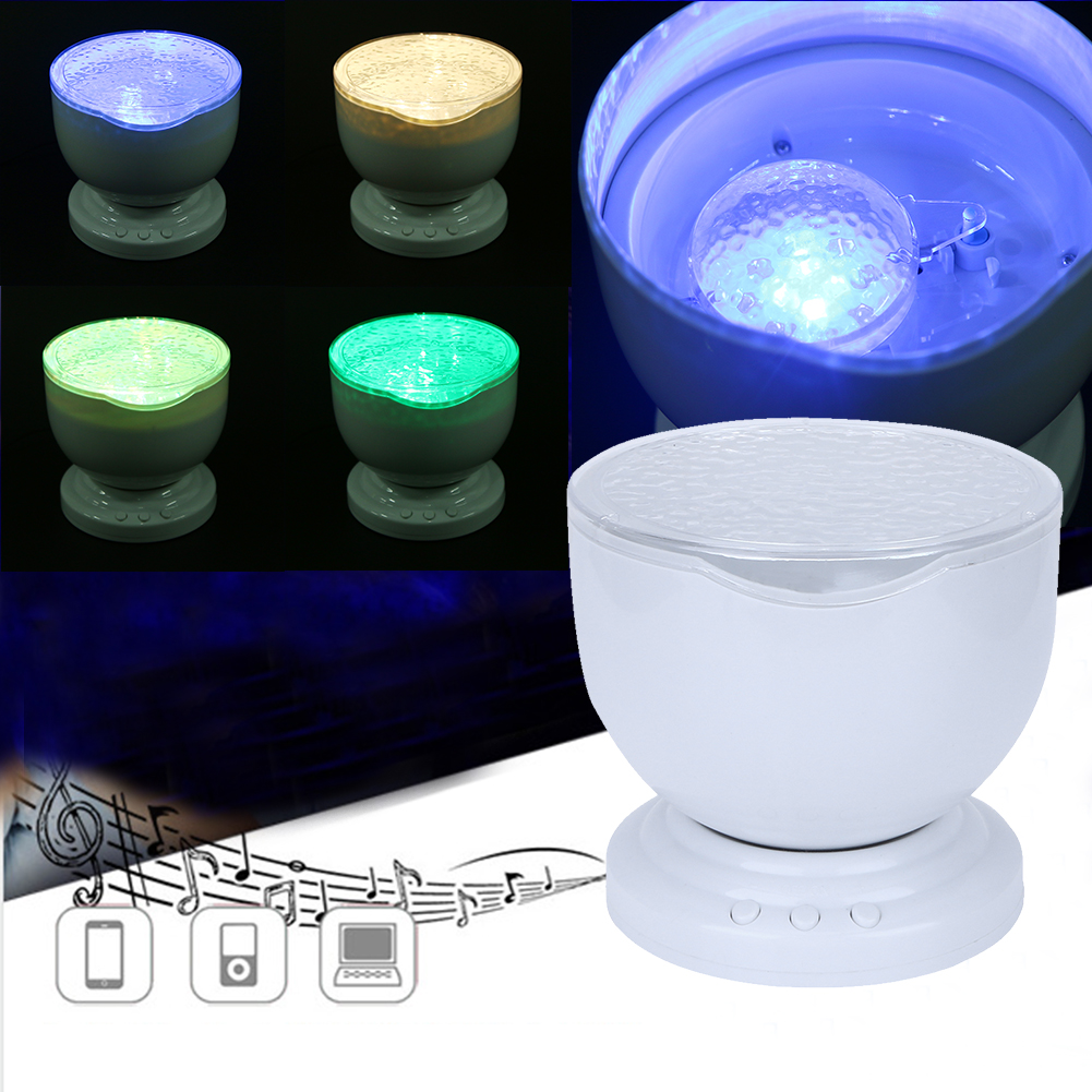 Romantic Colorful Bule Sea Wave Holiday Gift Cosmos Sky Master Projector LED Starry Night Light Lamp Ocean Wave Projector
