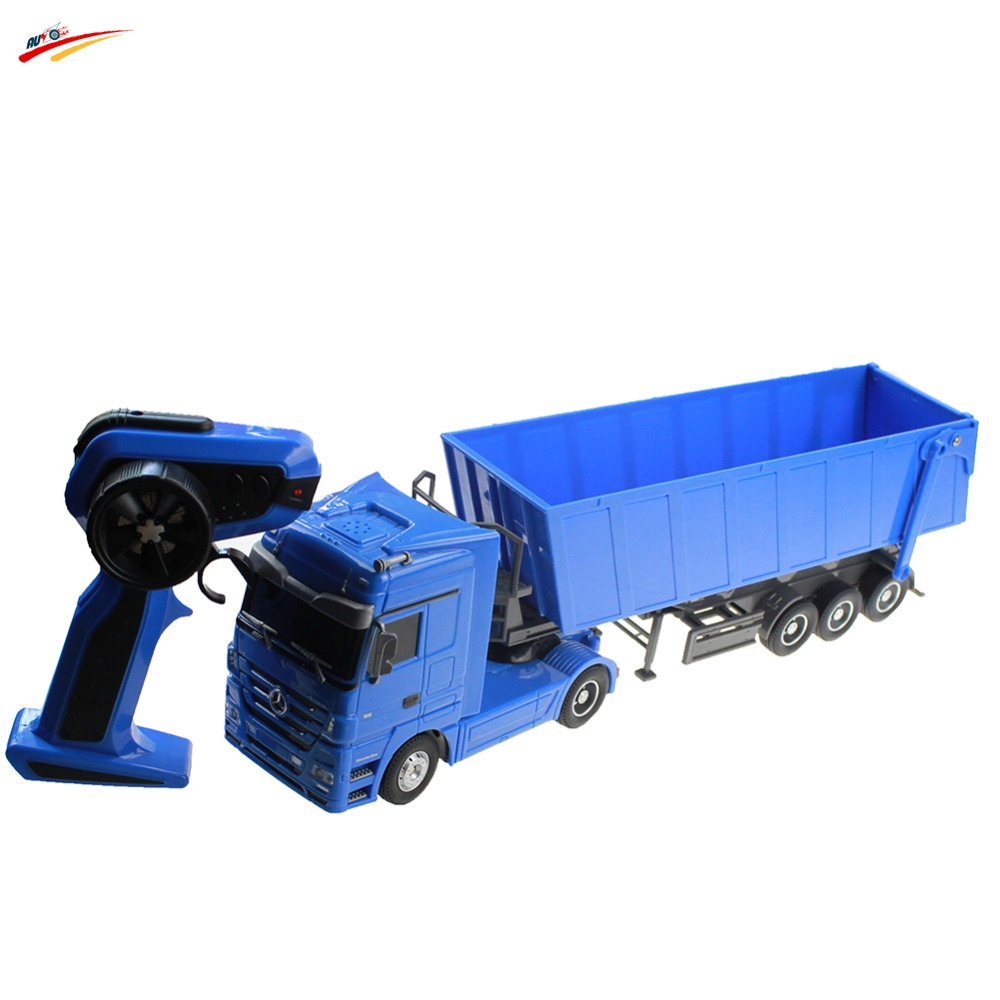 RC Truck 1:32 Brand Dumper Truck 10 Wheel 6CH Radio Control Automatic Lift Engineering Contrainer Truck Electronic Toy Vehicle