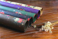 double side printed flower pattern guest gift wrapping paper DIY party decoration background paper craft 20sheets/lot