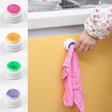 1Pcs Round Plastic Washing Towel Hooks Wash Cloth Clip Holder Clip Hanger Sucker Bathroom Towel Hooks Kitchen Supplies 7Z