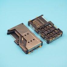 10 pçs/lote 3 in1 Slot Para Cartão Sim slot para cartão de memória SD TF embutido slot Para Lenovo P70 A60 A65 P700I A789 Gionee V303 W100 etc