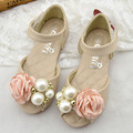 Open Toe Baby Girls Sandals With Flowers 2017 Summer Princess Beach Shoes Toddlers Girls Wedding Shoes Sandalias Enfant