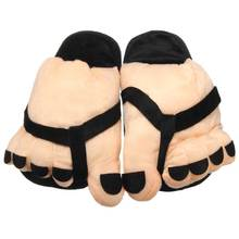 Big Sale Men Women Shoes Lover Warm Big Foot Indoor Slippers Funny Animal Slippers Plush Non-slip Home Slipper Christmas Gift