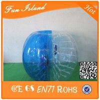 Бесплатная доставка 10 шт. (5red + 5 синий + 2 Воздуходувы 1.5 м 1.0 мм ПВХ Бурлящий шарик костюм, пузырь Футбол, людской шарик