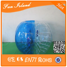 Free Shipping 10pcs(5Red+5Blue+2Blower 1.5m 1.0mm PVC Bubble Ball Suit, Bubble Soccer, Human Hamster Ball