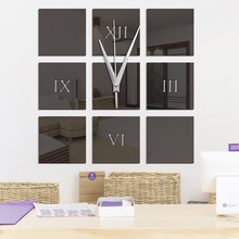 Fashionable DIY Acrylic Mirror Stickers Wall Clocks Home Decor