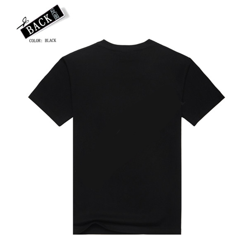 [Men bone] summer Heavy metal men t shirt rock t-shirt man Black t-shirt fashion brand hip hop cotton t-shirt