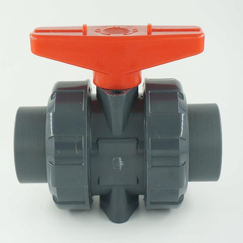 DN80 3 ручной разъем CPVC шаровой кран, клапан, UPVC пластиковый шаровой клапан с резьбой, PVDF, RPP шаровой клапан