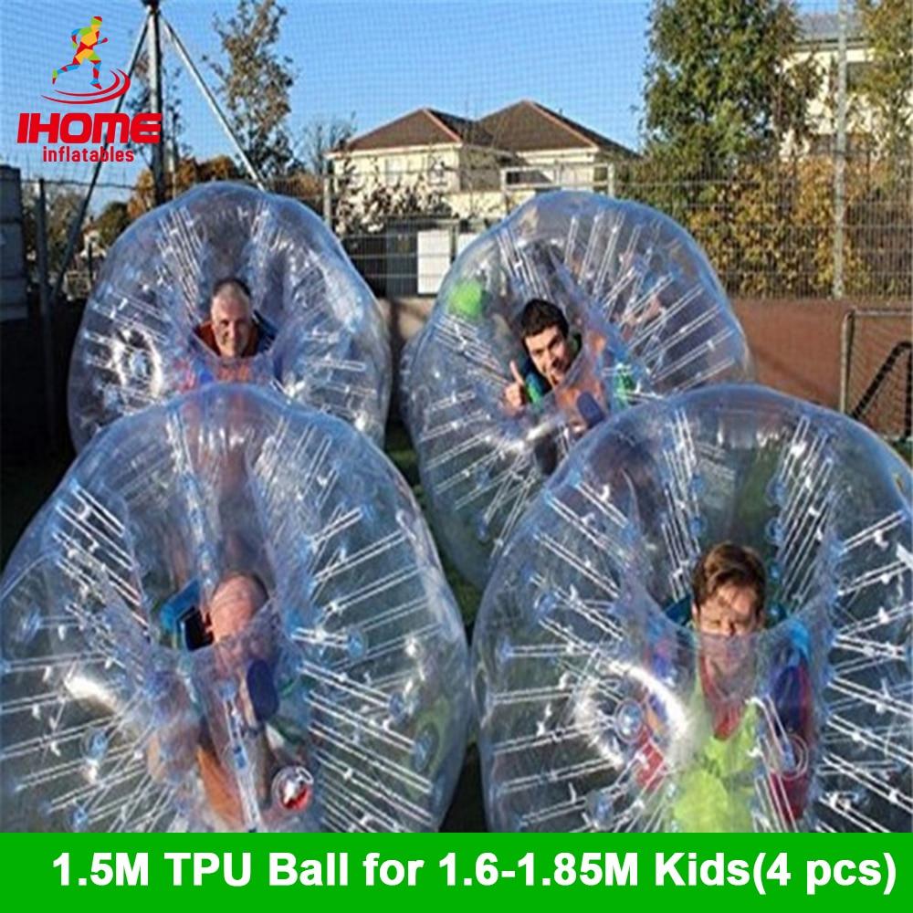 4pcs/lot 1.5M TPU Inflatable Bubble Soccer Football Ball Bubble Football Air Bumper Ball Body Zorb Ball Bubble