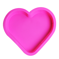 Livraison gratuite Nicole gel de silice moule ultralarge 28 cm gâteau de coeur moule chocolat stylo