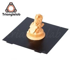 Trianglelab 235X235 ender 3 двухсторонняя текстурированная PEI пружинная стальная пластина с порошковым покрытием PEI для ender 3