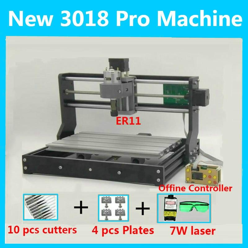 CNC Router 3018PRO 5500mw Laser Wood Engraver PCB Milling Machine Micro USB
