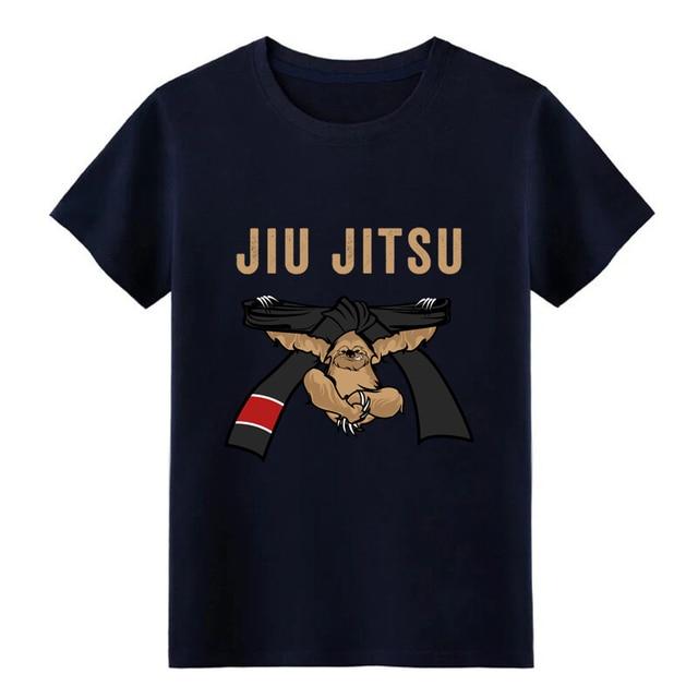Men's Jiu Jitsu BJJ Sloth Jiu Jitsu Black Belt with Text Brown Light t shirt Design Short Sleeve S-XXXL Leisure Fitness shirt 3