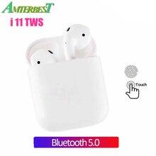 AMTERBEST I11 Tws Bluetooth наушники беспроводные наушники Bluetooth 5,0 наушники сенсорное управление гарнитура для всех смартфонов XIAOMI