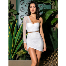 LOVE&ampLEMONADE Sexy White Tube Top Pleated Polka Dot Material Party Dress LM81671 letter embroidered pleated tube top