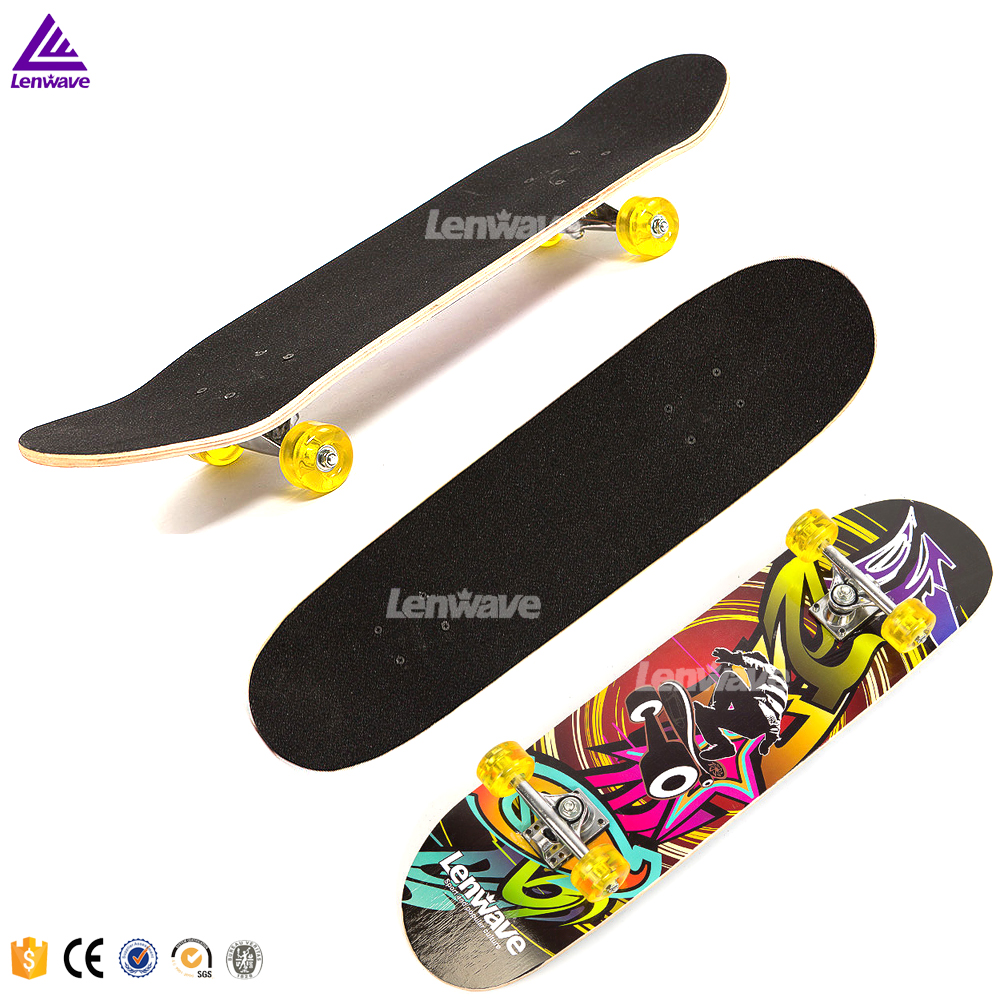 Lenwave Brand Skate board Maple Wood Deck Longboard Adult High Speed Drift Skate Skateboard 1691#  maple wood four wheel professional wooden skateboards longboard drift skateboard abec 11 chrome steel bearings longboard 3 color