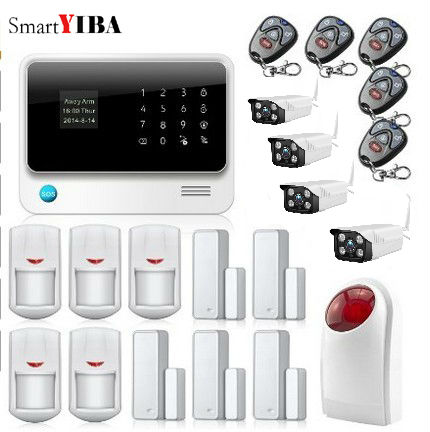SmartYIBA APP Remote Control Easy Operate WIFI GSM Alarm Outdoor Waterproof Camera For Home House Security System
